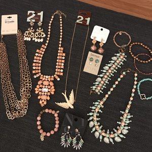 LOT of boho modern glam inspired jewelry